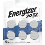 Energizer 3V Lithium CR2032 6-pack Coin Battery