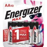 Energizer E91CP-10 MAX Alkaline AA Batteries 10 Pack