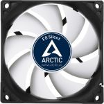 Arctic Cooling F8 Silent 80mm Case Fan 1200rpm3-pin Black/White
