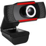 Adesso CyberTrack CyberTrack H3 Webcam - 1.3 Megapixel - 30 fps - Black  Red - USB 2.0 - 1280 x 720 Video - CMOS Sensor - Manual Focus - Microphone - Computer  Notebook  Smart TV