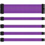 Nylon Braided Purple PSU Extension Cable Kit 30cm/1' 18AWG - 1 x 24pin + 2 x 8pin (CPU 4+4) + 2 x 8pin (PCIe 6+2)