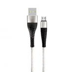Nylon Braided Micro USB Cable 3.3ft Silver