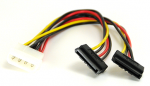 Molex to SATA Y Splitter Power Adapter 8inMolex to SATA Y Splitter Power Adapter 8in