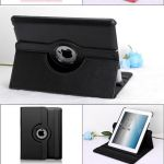 iPad Pro 10.5 2017 360 Rotating Lichee Leather Case Black