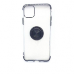 iPhone 11 Pro Max Case with Ring Stand Clear withBlack