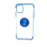 iPhone 11 Case with Ring Stand Clear with blue