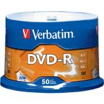 Verbatim 95101 50PK DVD-R 4.7GB 16X Branded Spindle
