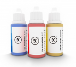 EKWB EK-CryoFuel Dye Pack Red Yellow and Blue Dye Bottles