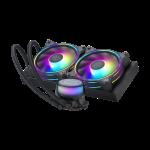 CoolerMaster MLX-D24M-A18P2-R1 MASTERLIQUID ML240ILLUSION AIO Liquid CPU Cooler Intel/AMD Compatible aRGB 240mm Radiator