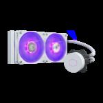 CoolerMaster MLW-D24M-A18PC-RW MASTERLIQUID ML240LV2 RGB WHITE EDITION New SickleFlow 120 RGB Intel/AMD 240mm Aluminum Radiator
