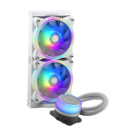 CoolerMaster MLX-D24M-A18PW-R1 MASTERLIQUID ML240ILLUSION WHITE EDITION Intel/AMD MasterFan MF120 Halo 240mm Aluminum Radiator