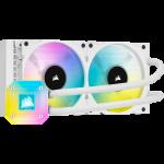 Corsair CW-9060050-WW iCUE H100i ELITE CAPELLIX 240mm Liquid CPU Cooler 2x 120mm ML RGB PWM Fans White