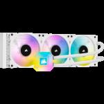 Corsair CW-9060051-WW iCUE H150i ELITE CAPELLIX 360mm Liquid CPU Cooler 3x 120mm ML RGB PWM Fans White