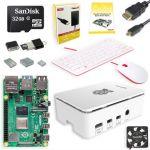 Raspberry Pi 4 PI4-8GB-STR32F-C4-WHT-K Complete Starter Kit