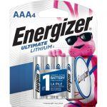 Energizer L92SBP-4 AAA Ultimate Lithium Batteries 4 Pack
