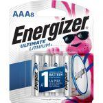 Energizer L92SBP-8 Ultimate Lithium AAA Batteries 8 Pack