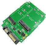 M.2 (NGFF) & mSATA SSD TO SATA III CardSupport BKey SATA SSD