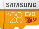 Samsung MB-MP128HA/AM 128GB EVO microSDXC MemoryCard Class 10/U3 Compatible Up to 100MB/s  Transfer Speed