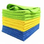 12-PK Microfiber Clean Cloths 4x Blue 4x Yellow4x Green