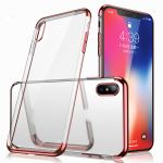 iPhoneXS MAX TPU  Electroplate ROSE GOLD Clear Rubber