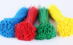 Nylon Cable Ties 3.5*200mm Blue Yellow Green Red each 25pcs 8in