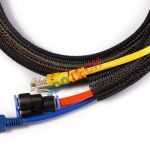 Self-Closing Cable Wrap 25mm width 10' Black