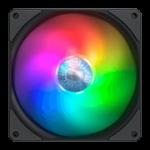 CoolerMaster MFX-B4DN-14NPA-R1 SickleFlow 140 ARGB Fan 4-pin PWM 27db(A) Black