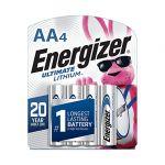 Energizer L91SBP-4 Ultimate Lithium AA Batteries Lithium (Li) - 4- Pack
