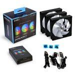 Lian Li UNI FAN AL120 3 Pack Black 120mm ARGB Fans with Controller