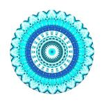 PopSockets Blue Floral Mandala Swappable