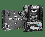 ASRock X299 STEEL LEGEND ATX Motherboard LGA 2066 Intel X299 Chipset Intel Core X Series CPU DDR4 4200 (Max 256GB) 2x M.2