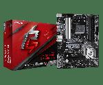 ASRock B550 PHANTOM GAMING 4/ac ATX Motherboard Ryzen 3rd Gen Socket AM4 DDR4 4733 (Max 128GB) 2x M.2 Slots HD Audio