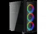 AeroCool QUARTZ REVO Mid Tower ATX Case TemperedGlass Side Panel 3x 120mm Addressable RGB Fans 1x 120mm Rear Fan 1x USB 3.0