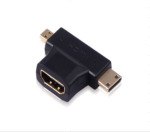 Micro HDMI & Mini HDMI Male to HDMI Female Adapter