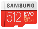 Samsung MB-MC512HA/AM 512GB EVO Plus microSDXC Memory Card 100MB/s Read 90MB/s Write Class 10/U3