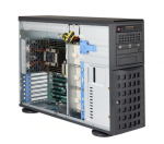 Supermicro 745BAC-R1K23B SuperChassis 4U FullTower Chassis Supports Dual Intel/AMD Processors 7 Full Heigh Expansion Slots