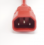 MC M05-113EULR 6' AC Power Extension Cord C13 to C14 16 AWG 250V/13A Red