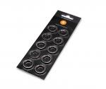 EKWB EK-Quantum Torque Color Ring 10-Pack HDC 12G1/4 Threads Nickel
