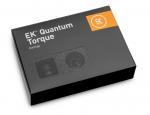 EKWB EK-Quantum Torque 6-Pack HDC 12 Fittings G1/4in BSP 4.5mm Male Thread Length Supports 12mm Solid Tubing Black