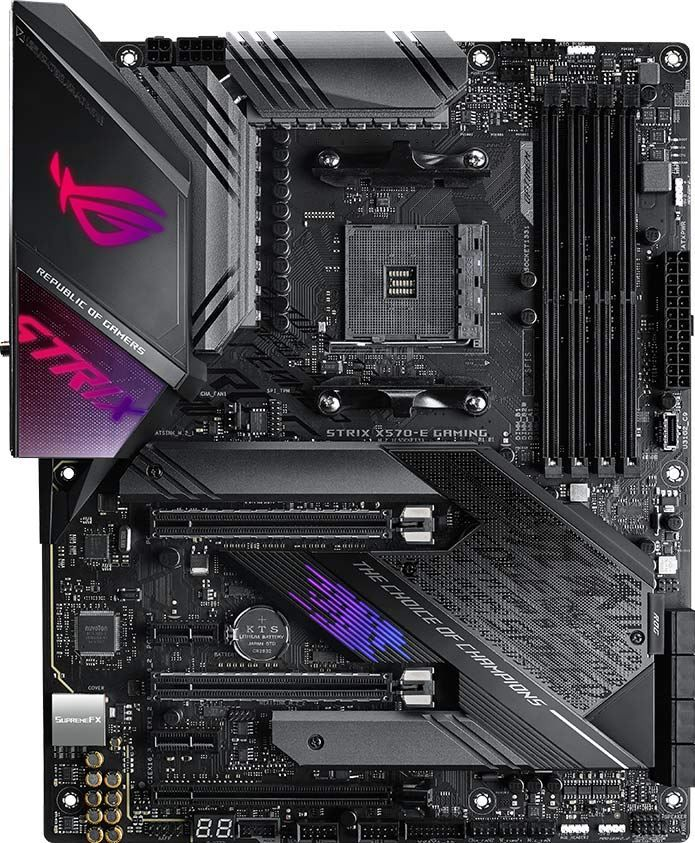 Asus Rog Strix X570 E Gaming X570 Amd Atx Gaming Motherboard With Pcie 4 0 Aura Sync Rgb Lighting 2 5gbps And Intel Gigabit Lan