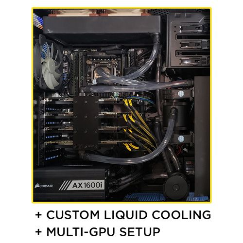 Central Computers can build a multi-GPU, custom liquid cooled workstation for you!