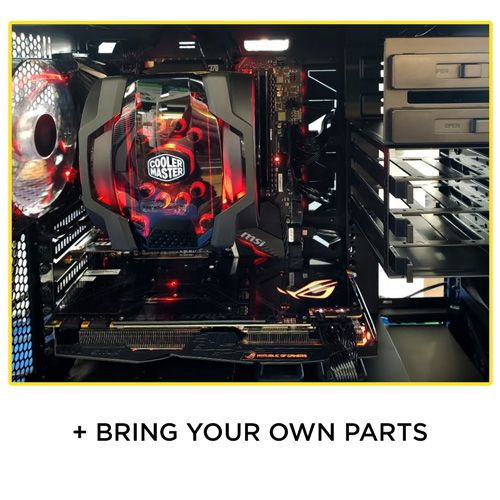 Central Computers will build your PC and you can bring your own parts!