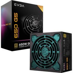 EVGA Supernova 220-G5-0650-X1 650W 80Plus GoldCertified Full Modular ECO Mode with Fdb Fan Power Supply