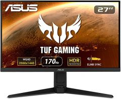 Asus VG27AQL1A TUF Gaming 27in WQHD 2560x1440 IPSDisplay Adaptive-Sync G-Sync Compatible 1ms sRGB HDR Black
