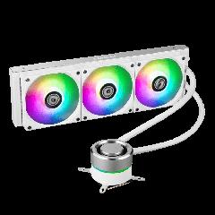 Lian-Li GALAHAD AIO360 RGB WHITE 360mm AIO CPU Liquid Cooler Triple 120mm Addressable RGB Fans White / Silver