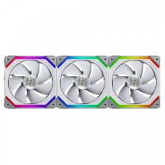 Lian Li UNI FAN SL120 3 Pack White 120mm ARGB Fans with Controller 800-1900RPM