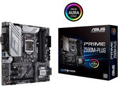 ASUS PRIME Z590M-PLUS Micro ATX Motherboard Intel LGA 1200 10th/11th Gen CPU Max 128GB DDR4 PCI Express 4.0 USB-C 3.2