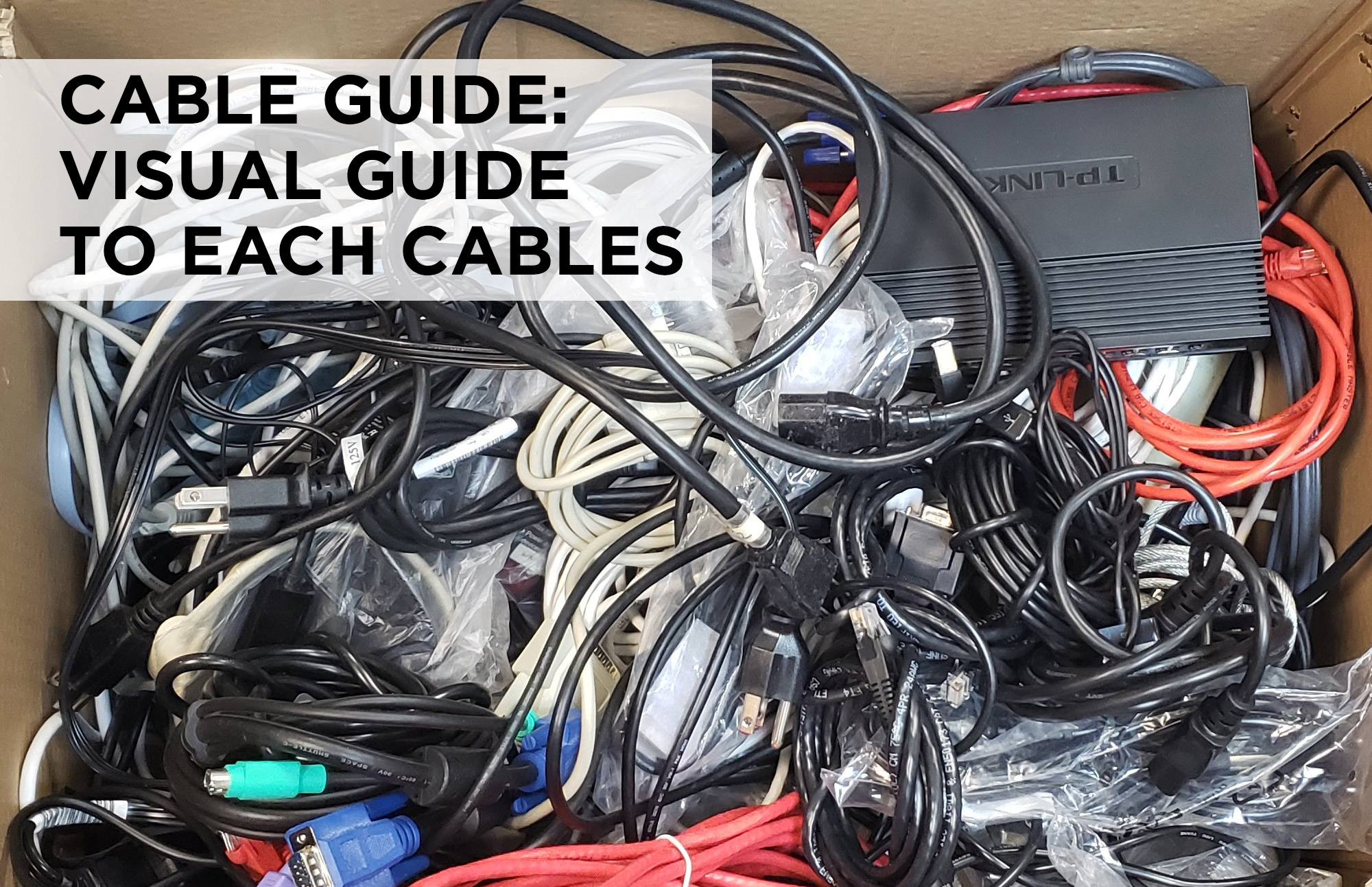 Find out which cable is which with the Central Computers handy visual cable guide