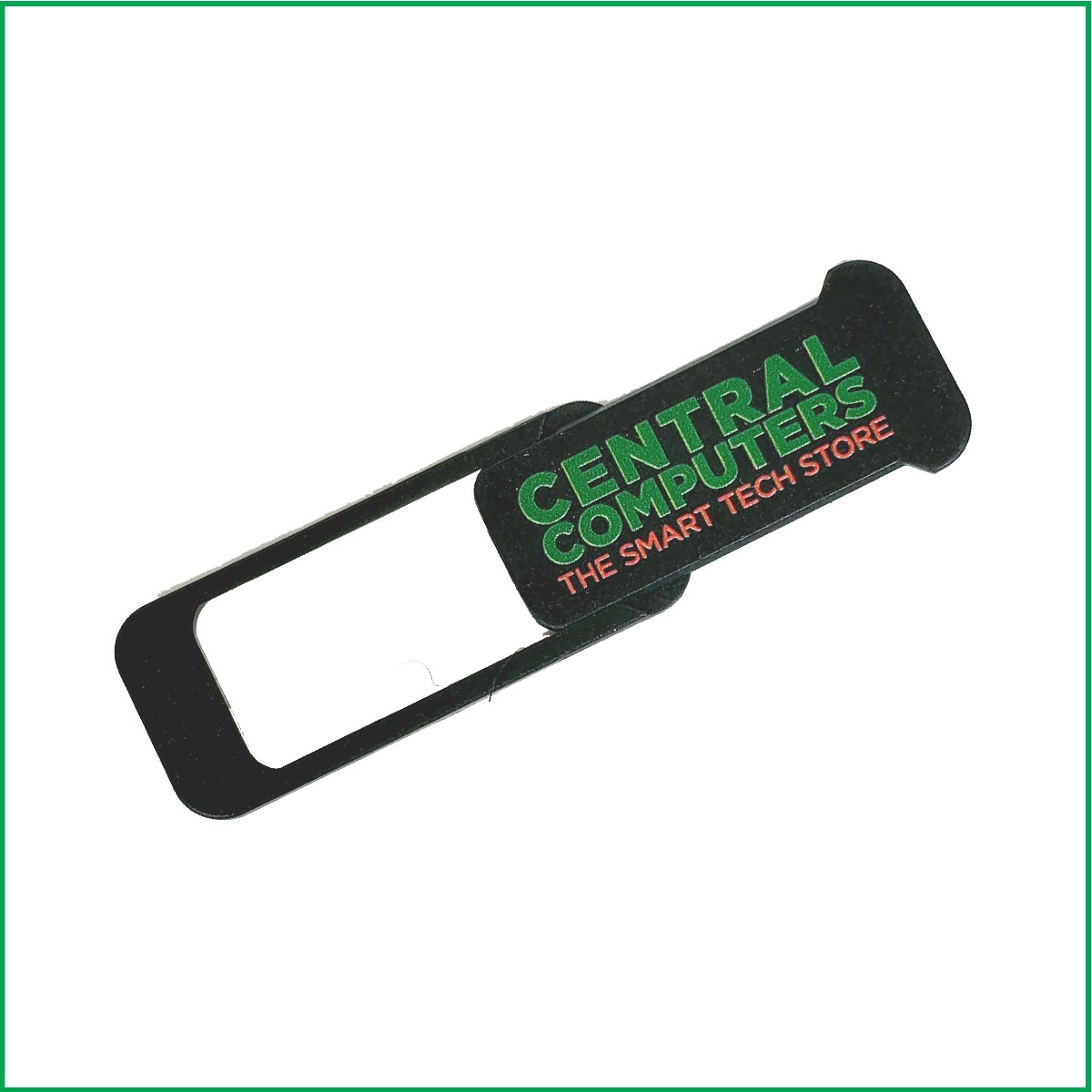 Central Computers logo branded webcam cover
