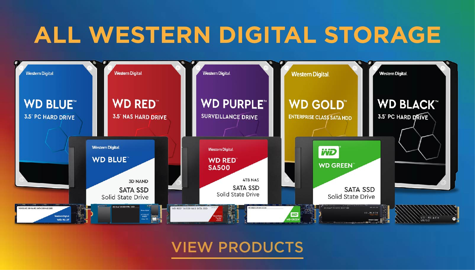 All western digital storage in stock now